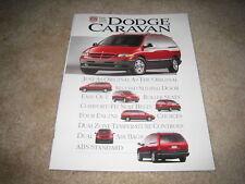 1996 Dodge Grand Caravan LE SE sales brochure literature SMALL