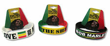 BOB MARLEY - 3 PIECE SILICONE WRISTBAND SET NEW NWT OFFICIAL ADULT