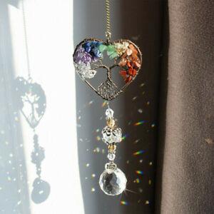 Handmade Crystal Beads Suncatcher Window Hanging Dream Catcher Tree Of Life