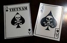x 2 Vietnam Ace of spades death card vinyl die cut war soldiers decal sticker