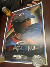 "US West Red White & Blue Baseball tour poster 19""x25"""