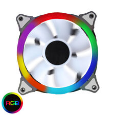 Game Max Spectrum Single Ring Rainbow RGB LED 120mm 12cm PC Case Fan, 6 Pin