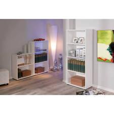 Etagère bibliothèque meuble de rangement de salle de bain ou de bureau BLANCHE