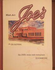 Eat At Joe's The Joe's Stone Crab Restaurant Cookbook Hardcover 2000