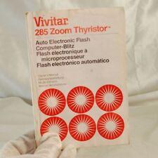 Vivitar 285 Zoom Thyristor Manual Guide 7119113