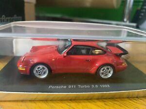 Spark Porsche 911 Turbo 3.6 1993 1/43 S2034 No Bbr Hpi Tsm Kyosho Looksmart