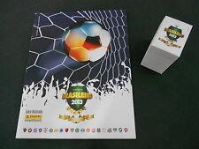 ALBUM PANINI SOCCER BRAZIL CHAMPIONSHIP 2013 + COMPLETE STICKERS SET