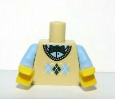 Lego 1 Body Torso For Minifigure Blue Shirt Tan Argyle Vest Sweater Bowtie