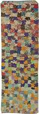 Colorful Vintage Moroccan Cotton Runner BB5897