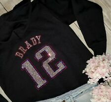 New Women's New England Patriots Zip Up Jacket Hoodie  Sz M Tom Brady #12