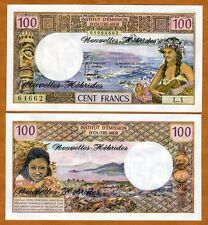 New Hebrides, 100 Francs, ND (1977), Pick 18d, French Colonial (now Vanuatu) UNC