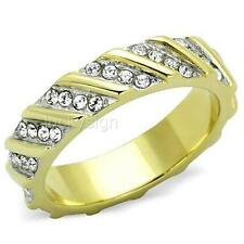 14K GOLD EP WOMENS DIAMOND SIMULATED RING size 10 or T 1/2 other sizes available