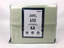 AQ Textiles Surrey 650 TC Cotton 4 Piece King Sheet Set Green $210