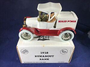 Y1-82 ERTL 1:25 SCALE DIE CAST BANK - 1918 RUNABOUT - SEALED POWER