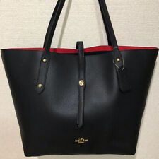 NEW COACH Tote Bag Leather A4 Black F58849
