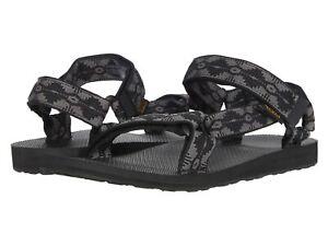 TEVA Mens Durabrasion Rubber Sandals Canyon Black Grey 10 New