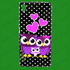 Owl Love Pattern Silicone Skin Rubber Soft Cover Case For Sony Xperia Z4