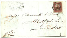 1841 1D Red Ae 4 Margins Stated Pl 31 Black Maltese Cross Of Liverpool 1843