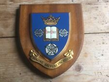 More details for vintage hand painted heraldic shield/plaque sheffield university