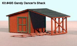 American Model Builders O Scale Gandy Dancer Shack  Kit #495 Bob The Train Guy
