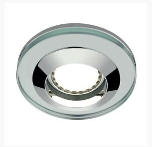 Round Glass Shower Light With Dimable LED Lamp Cool White