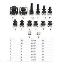 140stk 14Typen Schlüssel Mikrotaster Fernbedienung Microschalter SMD SMT Taster