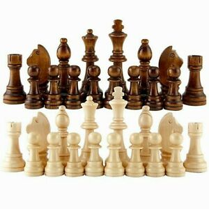 2021 New Arrival Wooden Chess Pieces Hot Sale 55-91mm Height 36pcs Queens Gambit