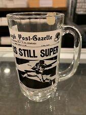 1/19 1976 PITTSBURGH STEELERS STILL SUPER BOWL GLASS MUG CUP GROSSMAN