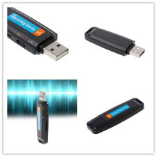 Negro Mini Digital Espía Audio voz Recorder Dictafono USB Flash Drive de U-disk
