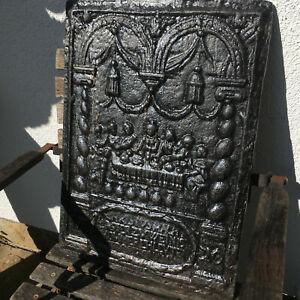 Antike Kaminplatte Eisenguss