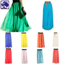Women Ladies Girl Chiffon Bubble Skirt Maxiskirts Pleated Long Dress CSKIR 17