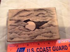 Stampscapes Cloud With Moon 106 G 1995 Wood Mounted Large