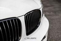 schwarz glänzende Nieren Set 1er BMW E88 Cabrio Frontgrill M salberk 8201
