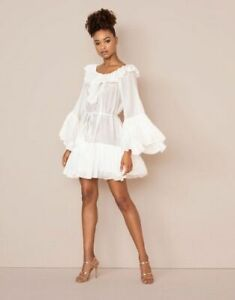 AGENT PROVOCATEUR RARE WHITE ELODI SHIRT DRESS BEACH COVER UP SIZE S/M BNWT