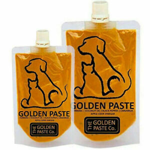 Golden Paste Turmeric Supplement for Dogs & Cats with Curcumin Aids Joint Health