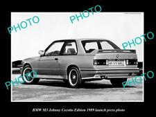 OLD LARGE HISTORIC PHOTO OF 1989 BWM M3 JOHNNY CECOTTO LAUNCH PRESS PHOTO
