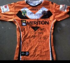 Wests Tigers  Team Signed Game Issue Players Jersey Issue 2014