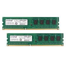 8GB 2X 4GB Crucial PC3-12800U DDR3 1600MHz 2Rx8 240pin RAM DIMM Desktop Memory %