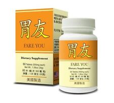 Fare You Herbal Supplement Helps for Digestive System 60 Tablets Made in USA