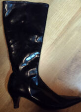 Impo Stretch Women's Black Leather Look Boots Size 6.5