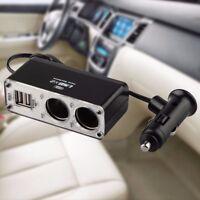 USB PORT 2 xMULTI SOCKET CAR CIGARETTE CIGAR LIGHTER SPLITTER PLUG CHARGER