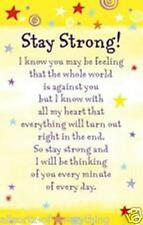 Heartwarmers Stay Strong Credit Card Style Keepsake with Signature Panel
