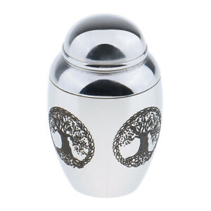 Metal Cremation Jewellery Ashes Urn Pendant Memorial Necklace Container Jar