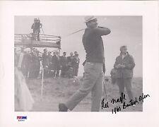 KEL NAGLE (RIP) *ULTRA-RARE* 1960 BRITISH OPEN INSCRIBED ON-COURSE PHOTO PSA