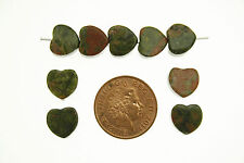 10mm rainforest jasper semi-précieuses perles en forme de coeur (Pack de 12)