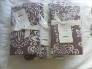 NEW AUTH POTTERY BARN ELAINE DUVET KING CAL KING 108X92 IN AND 2 EURO26X26