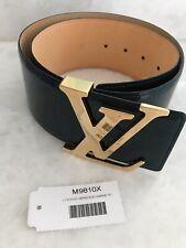 Louis Vuitton Wide Belt Vernis Leather Blue Marine 75/30
