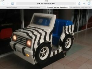 Coin operated jeep kiddyride