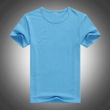 T-Shirt Herren/Damen Basic Kurzarmshirt Sweatshirt O-Neck Casual T-Shirt Shirt