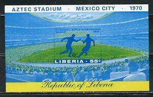 LIBERIA 1970 WORLD FOOTBALL GAMES SOUVENIR SHEET IMPERF MINT NH